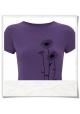 Frauen T-Shirt Blumen in Violett / Lila aus Biobaumwolle