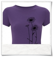 T-Shirt Flowers / women / Violet / Fair Organic and Eco