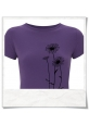 T-Shirt Blumen, Fair hergestellt & aus Biobaumwolle in Violett