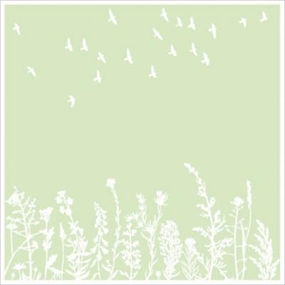 Blumenwiese & Vögel Druck