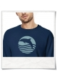 Sweatshirt Sunset with Dolphin in Navy Blue