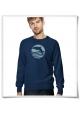 Men's Sweatshirt Sunset with Dolphin ( organic and fair )