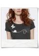 T-Shirt Schmetterling und Schnecke / Anthrazit