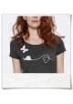 Snail and Butterfly in Love T-Shirt / Anthracite / Fair and Organic