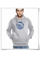 Sunset with Dolphin men's Hoodie in grey | Fair Wear and Organic cotton