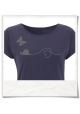 Women's T-Shirt in blue Snail & Butterfly