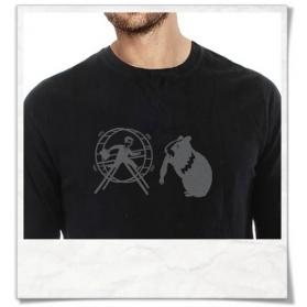 Langarm Vintage T-Shirt Hamster & der Hamsterrad Fair Wear
