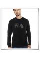 Hamster & der Hamsterrad Langarm Männer T-Shirt in Schwarz