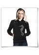 Women\'s hoodie / Hoody Seahorse in black