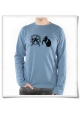 Organic longsleeve Hamster & Hamsterwheel for men