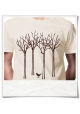 "T-Shirt "" the bird in the forest """