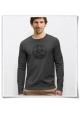 Bike Langarm Männer T-Shirt in Grau / Fair und Bio