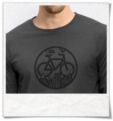 Bike Longsleeve men\'s T-Shirt / Gray / Fair & Organic Cotton
