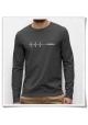 Deadline Langarm Männer T-Shirt in Grau / Fair und Bio