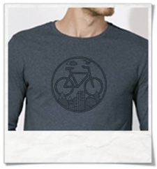 Bike Longsleeve T-Shirt in blue Fair Wear & organic cotton