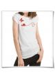 T-Shirt Schnecke und Schmetterling fair produziert in Weiß