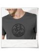 Bike Männer kurzarm T-Shirt in Grau