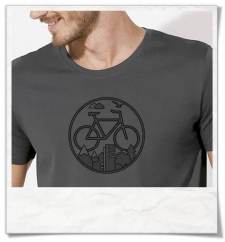 Bike T-Shirt in gray Fair Wear & organic cotton
