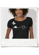 T-Shirt Schmetterling und Schnecke in Schwarz & Weiß