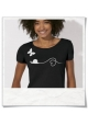 Butterfly & Snail in Love / women T-Shirt / Black