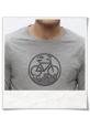 Radfahrer-Shirt Fahrrad / Bike Outdoor & Natur Langarm T-Shirt in Grau fair Wear & aus Biobaumwolle