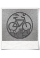 "T-Shirt mit Fahrrad Logo / Langarm Bike-Shirt in Grau Fair hergestellt & aus Biobaumwolle. Fahrrad-langarm-Shirt ""Unter den Wo"