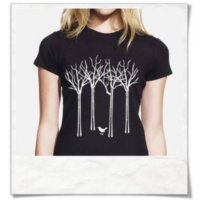Vogel im Wald Damen T-Shirt