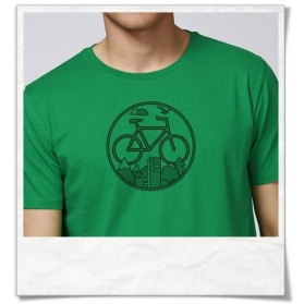 Bike T-Shirt organic cotton & Fair Wear in green
