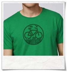 T-Shirt mit Fahrrad-Print / Bike / Fahrrad Fair und aus Biobaumwolle