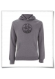 Bike Hoodie for men grey & black recycled