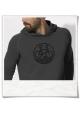 Bike men's hoodie in gray