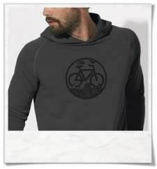 Bike men's hoodie in gray