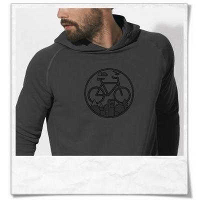 Bike Männer Hoodie in Grau