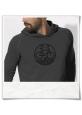 Radfahrer-Hoodie Fahrrad / Bike T-Shirt in Grau fair Wear & aus Biobaumwolle