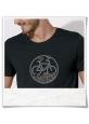 T-Shirt in Schwarz Radfahrer-Shirt , Fahrrad / Bike fair Wear & aus Biobaumwolle