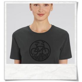 Bike T-Shirt organic cotton & Fair Wear in gray