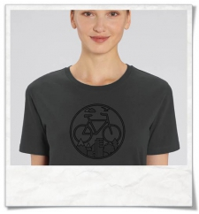 T-Shirt bike in gray & black