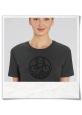Fahrrad T-Shirt print Unter den Wolken aus Biobaumwolle & Fair hergestellt in Grau