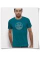 Bike Männer kurzarm T-Shirt in Blau & Weiß