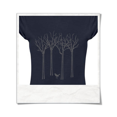 Bird forest T-Shirt women T-Shirt / Navy / Fair Wear