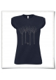 Vogel im Wald / Frauen T-Shirt / Blau / Navy / Fair Wear