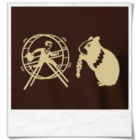 T-Shirt Hamster und der Hamsterrad
