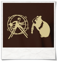 Hamster / Hamsterwheel / men T-Shirt / Brown / Fair Organic and Eco
