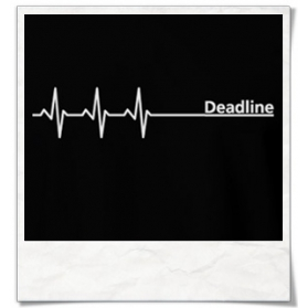 Deadline T-Shirt in schwarz