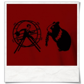 HamHam, out of the hamster wheel :) T-Shirt / Red