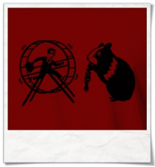 Hamster / Hamsterwheel / men T-Shirt / Red / Fair Organic and Eco