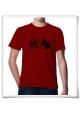 Hamster / Hamsterwheel / men T-Shirt / Red / Fair Organic and Eco