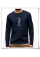 Kein Bock ! / Longsleeve men T-Shirt / Navy / Fair and Organic