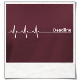 Deadline Longsleeve T-Shirt / Burgundy