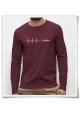 Deadline / Longsleeve men T-Shirt / Burgundy / Fair & Organic